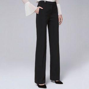 White House Black Market Wide Leg Black Pants (10)